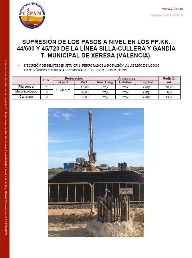 Ejecución de pilotes in situ CPI-6 en Obra valencia